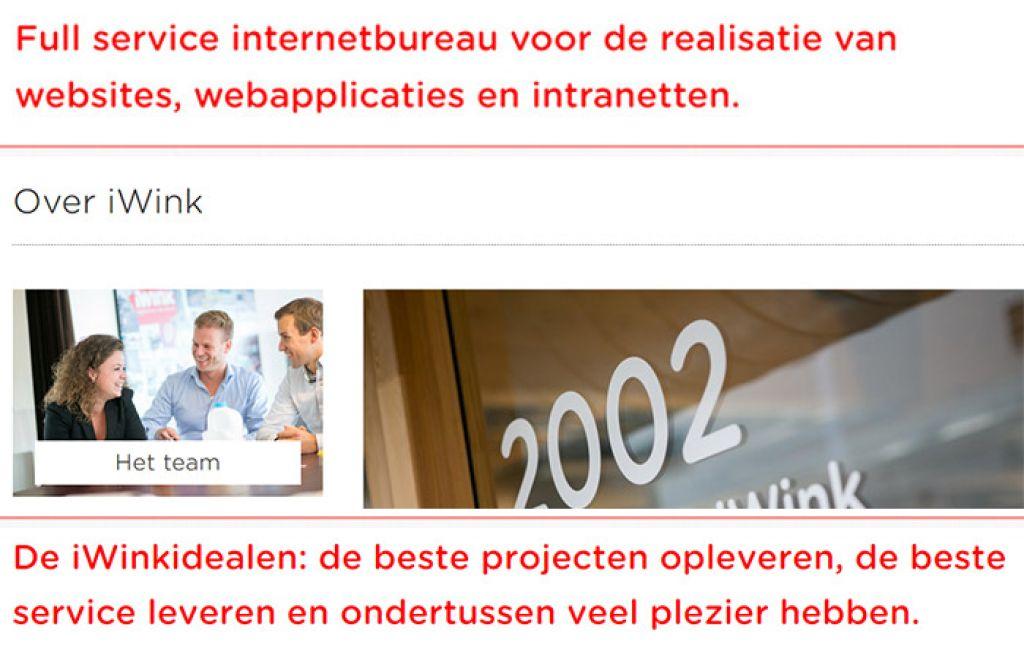 Goede aansluiting websites