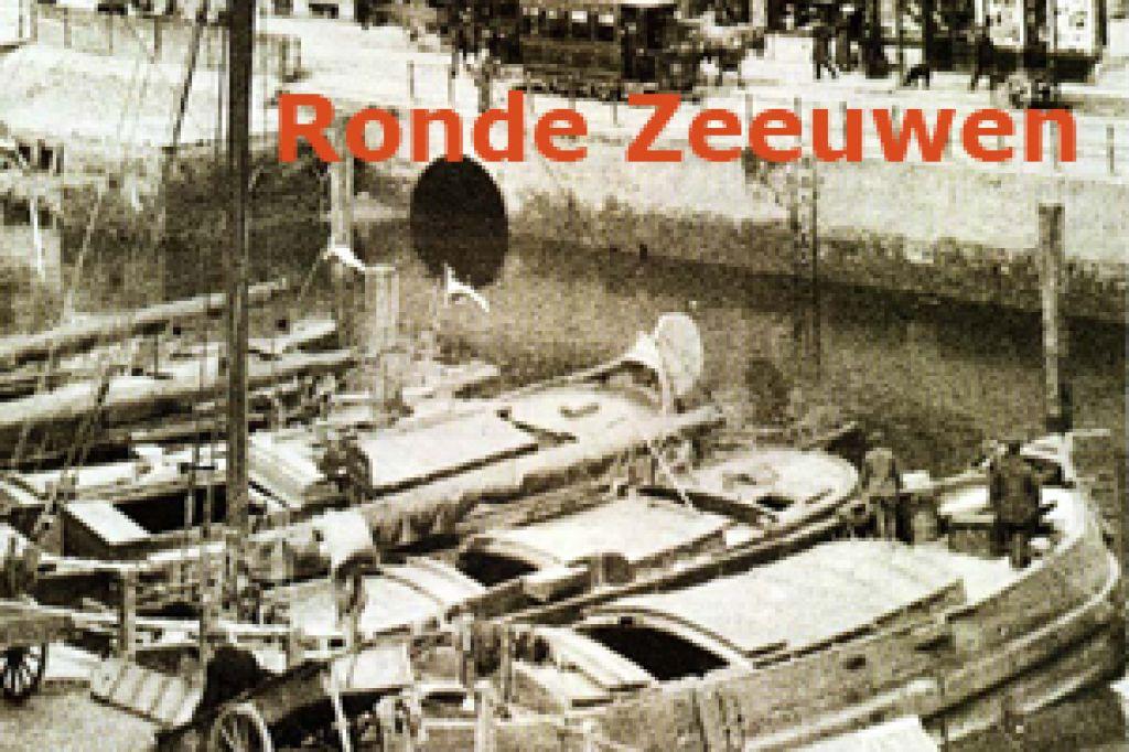 Ronde Houten Spiegel : Ronde zeeuwen houten vracht en veerschepen in zeeland