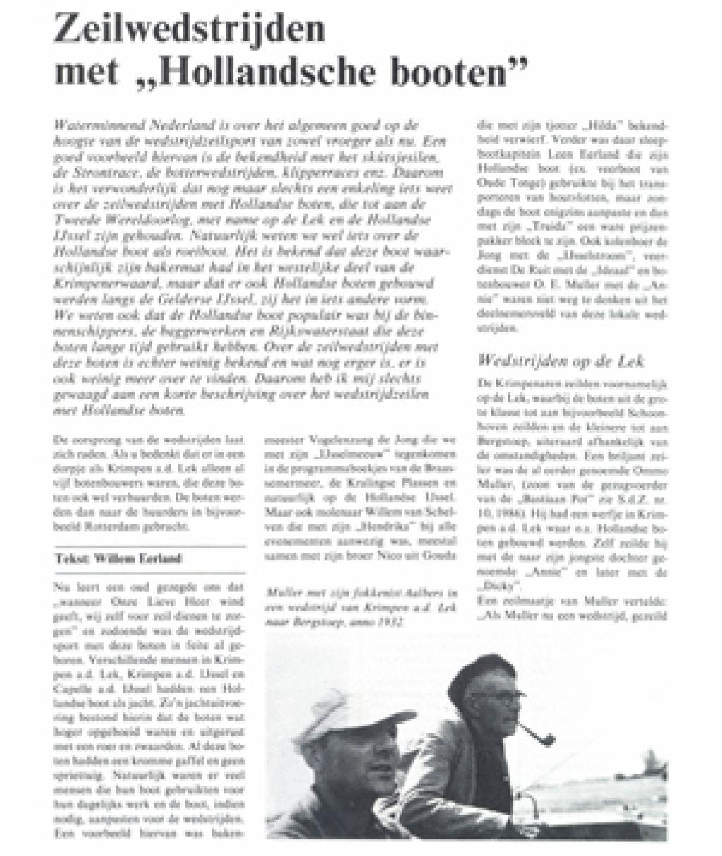 Hollandse Boot Stichting Stamboek Ronde En Platbodemjachten