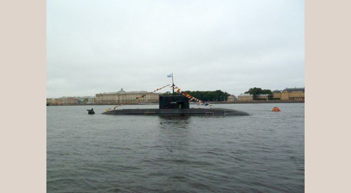 Blocked by submarines on the Neva