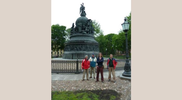 "The so called team in front of the monument ""1000 years Russia"" (8 june)"