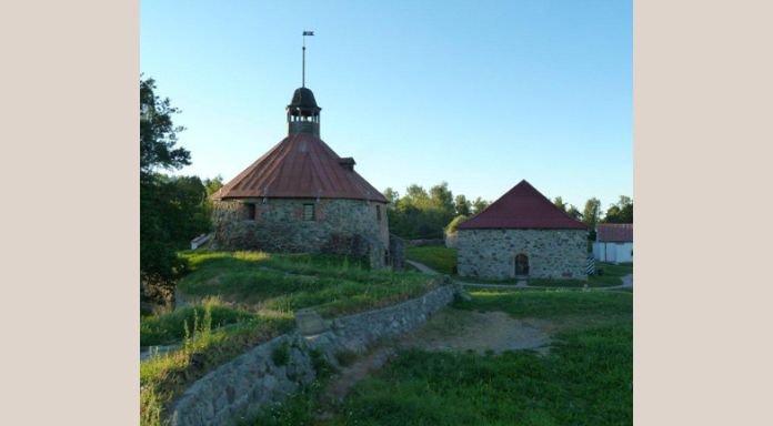 The medieval castle of Priozersk